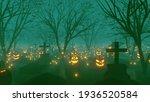 Halloween Grave Tree Background ...