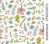 herbal tea outline sketch... | Shutterstock .eps vector #1936523671