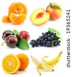collection of ripe fruit...   Shutterstock . vector #19365241