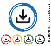 download flat icon set. flat... | Shutterstock .eps vector #1936531831