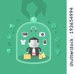 customer care. providing best... | Shutterstock .eps vector #193654994