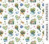watercolor seamless pattern...   Shutterstock . vector #1936563511