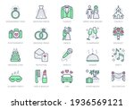 wedding timeline line icons.... | Shutterstock .eps vector #1936569121