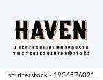 retro font  typeface design ... | Shutterstock .eps vector #1936576021