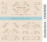 vector set  calligraphic design ...   Shutterstock .eps vector #193658585