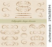 vector set  calligraphic design ... | Shutterstock .eps vector #193658594