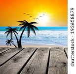 paradise in the sea | Shutterstock . vector #193658879