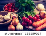 vintage photo of fresh... | Shutterstock . vector #193659017