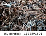 A Pile Of Rusty Parts From Cars ...