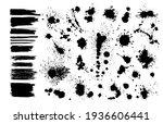 set of grunge design elements.... | Shutterstock .eps vector #1936606441