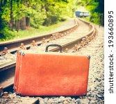Retro Suitcase On The Railway ...