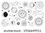 set of sun  moon  stars  clouds ... | Shutterstock .eps vector #1936649911