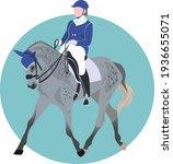 Set. Equestrian Sports  Horse...