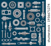 machinery parts icons  machine... | Shutterstock .eps vector #1936671274
