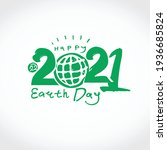 happy earth day 2021. green...   Shutterstock .eps vector #1936685824