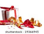 celebratory tapes  gift | Shutterstock . vector #19366945