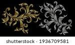 golden and silver victorian... | Shutterstock .eps vector #1936709581