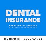 vector premium sign dental... | Shutterstock .eps vector #1936714711