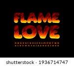 vector creative card flame love.... | Shutterstock .eps vector #1936714747