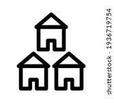 lodging icon or logo isolated...   Shutterstock .eps vector #1936719754