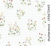 retro seamless pattern with...   Shutterstock .eps vector #193672445