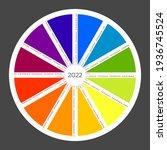 unusual calendar 2022. vector... | Shutterstock .eps vector #1936745524
