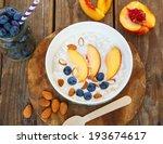 healthy breakfast  granola and... | Shutterstock . vector #193674617