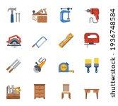 carpenter elements or... | Shutterstock .eps vector #1936748584