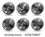 telephone icons | Shutterstock .eps vector #193676807