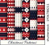 Christmas Patterns Set's Vector ...