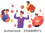characters who show complaints... | Shutterstock .eps vector #1936808371