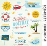 summer labels and design... | Shutterstock .eps vector #193684505