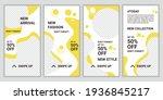 set of social media templates... | Shutterstock .eps vector #1936845217