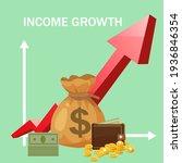 increase income financial...   Shutterstock .eps vector #1936846354