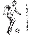 soccer football player in... | Shutterstock .eps vector #193687109