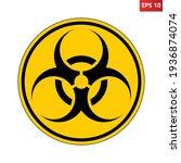 biohazard symbol sign.... | Shutterstock .eps vector #1936874074
