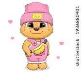 cute cartoon bear in pink hat... | Shutterstock .eps vector #1936880401