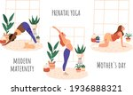 yoga group for pregnant woman... | Shutterstock .eps vector #1936888321