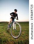 low angle view of cyclist... | Shutterstock . vector #193689725