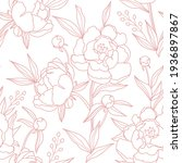seamless pattern with pink...   Shutterstock .eps vector #1936897867