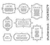 minimal monochrome geometric... | Shutterstock .eps vector #193690079