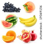 collection of ripe fruit... | Shutterstock . vector #19369156