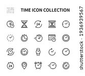 time and clock vector linear... | Shutterstock .eps vector #1936939567