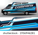 delivery van vector design. car ... | Shutterstock .eps vector #1936946281