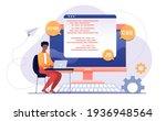 script coding and programming...   Shutterstock .eps vector #1936948564