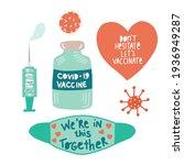 coronavirus icon set vector....   Shutterstock .eps vector #1936949287