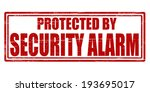 stamp with text security alarm... | Shutterstock .eps vector #193695017