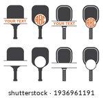 pickle ball sport ball monogram ... | Shutterstock .eps vector #1936961191