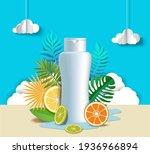 citrus hair shampoo poster... | Shutterstock .eps vector #1936966894