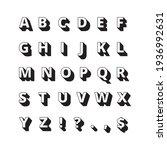 alphabet long shadows. font...